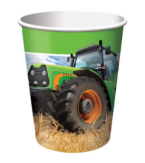 """Pappbecher """"Traktor"""" - 8 Stück"""