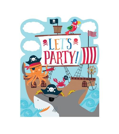 """Einladungskarten """"Ahoy Birthday"""" - 8 Stück"""