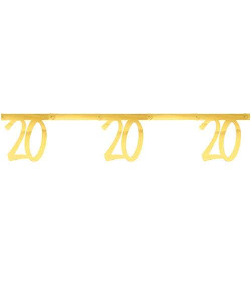 """Zahlengirlande aus Papier """"20"""" - metallic gold - 2,5 m"""