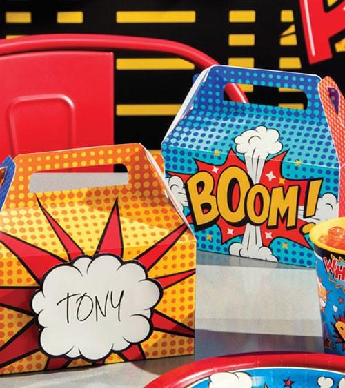 """Lunchboxen mit Namensschild """"Superheld"""" - 4 Stück"""
