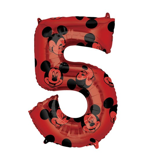 "SuperShape-Folienballon ""5"" - Mickey Mouse - 66 cm"