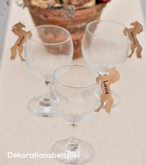 Pferdeanhänger aus Holz - 6 Stück