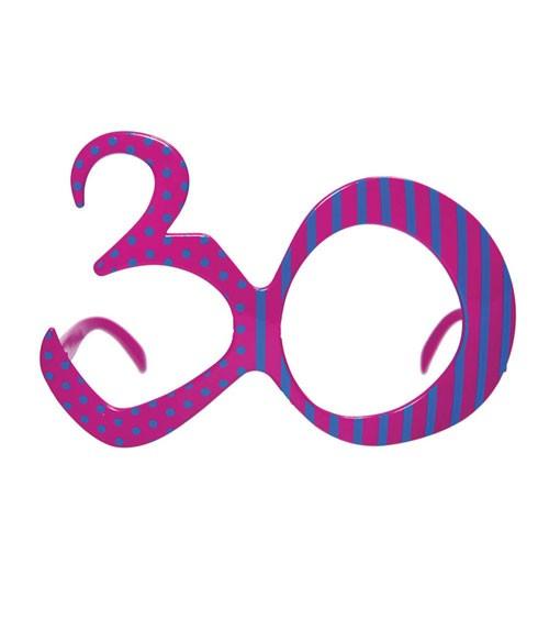"""Partybrille """"30"""" - violett/blau"""