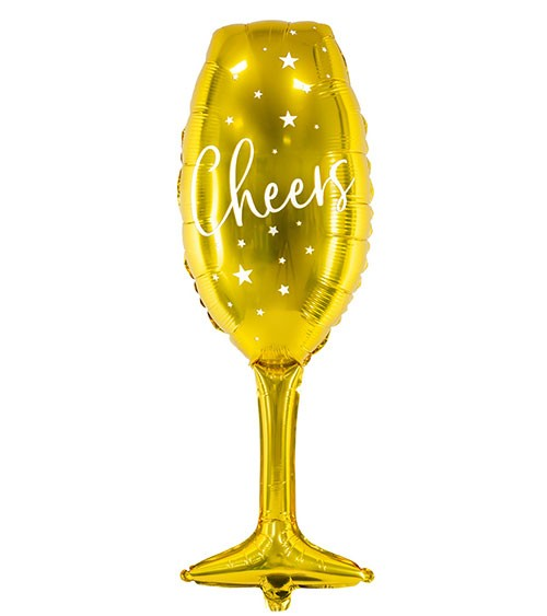 "Supershape-Folienballon Sektglas ""Cheers"" - 28 x 80 cm"