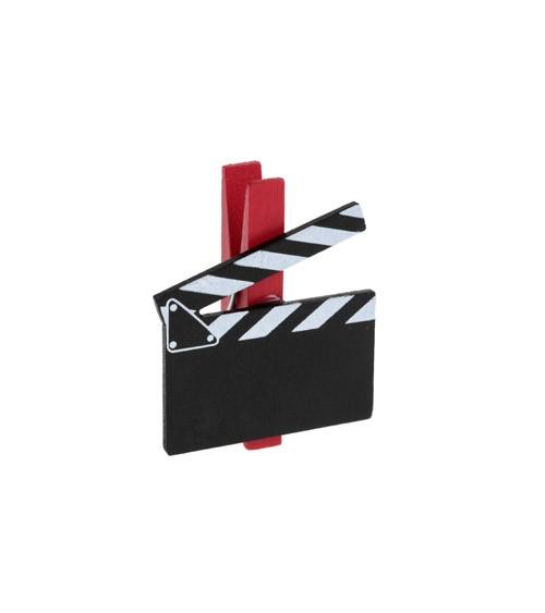 Holzklammer mit Filmklappe - 6 Stück