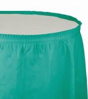 Tischverkleidung - teal - 4,26 m