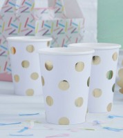 "Pappbecher ""Pick and Mix"" - Polka Dot - 8 Stück"