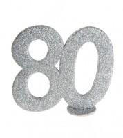 """Tischaufsteller """"80"""" - silber - 11 x 10 cm"""