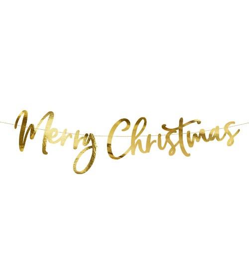 "DIY ""Merry Christmas""-Girlande - metallic gold - 83 cm"