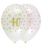 "Luftballon-Set ""Rosa Party"" - 40. Geburtstag - 6 Stück"