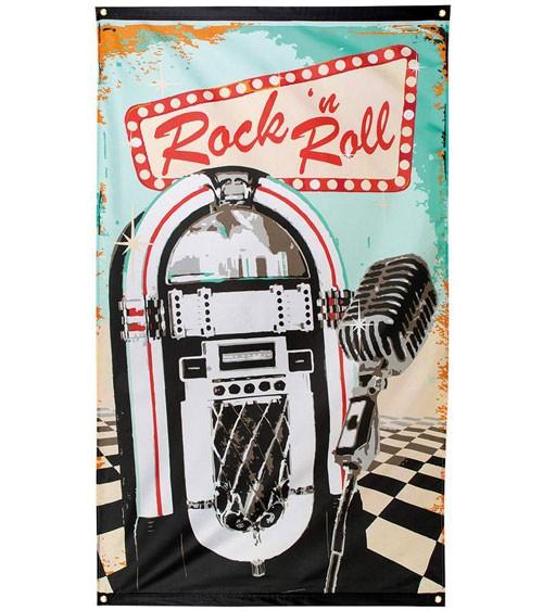 "Wanddeko aus Stoff ""Rock 'n Roll"" - 90 x 150 cm"