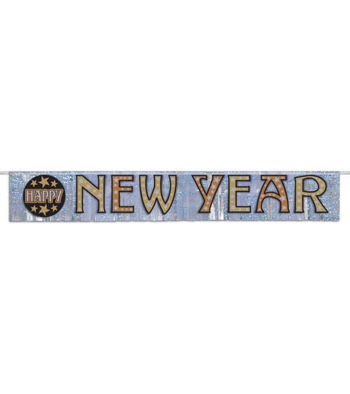 "Holographic-Fransenbanner ""Happy New Year"" - 1,44 m"
