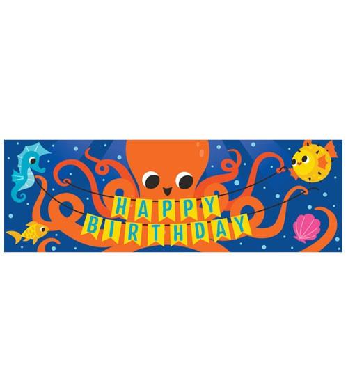 "Großer Partybanner ""Bunte Meerestiere"" - Happy Birthday - 152,4 cm"