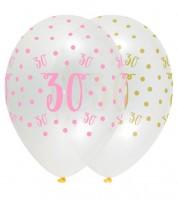 "Luftballon-Set ""Rosa Party"" - 30. Geburtstag - 6 Stück"