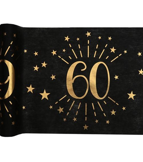 """Tischläufer """"Sparkling Gold"""" - 60. Geburtstag - 30 cm x 5 m"""