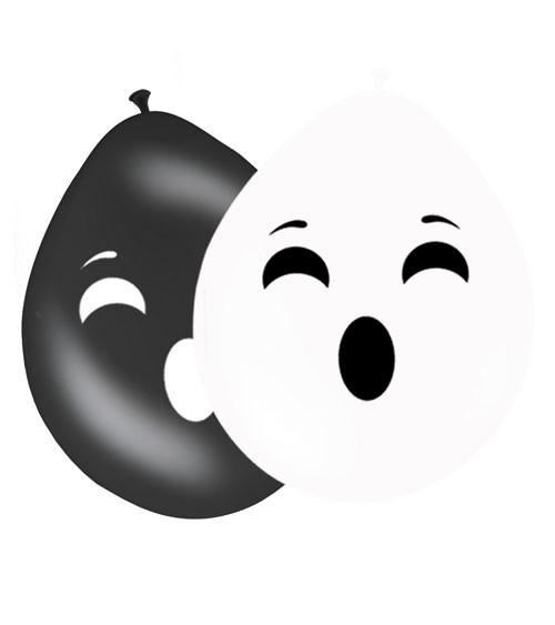 """Luftballon-Set """"Geister"""" - schwarz/weiß - 8 Stück"""