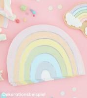 "Regenbogen-Servietten ""Pastell Party"" - 16 Stück"