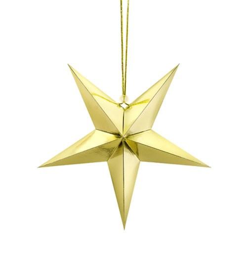 """Hängedekoration """"Stern"""" - gold - 30 cm"""
