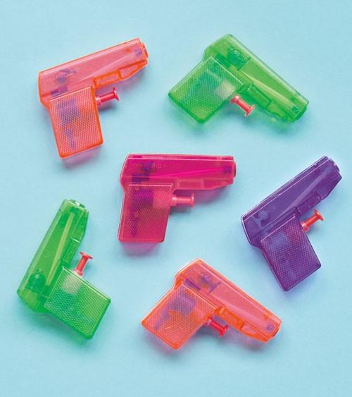 Kleine Wasserpistolen - bunt - 8 Stück