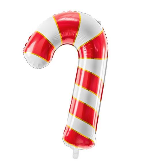 "SuperShape-Folienballon ""Zuckerstange"" - rot & weiß - 50 x 82 cm"