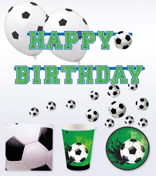 """Geburtstags-Deko-Set """"Fußball-Party"""" - 42-teilig"""
