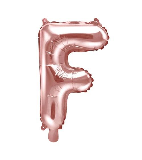 "Folienballon Buchstabe ""F"" - rosegold - 35 cm"