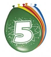 """Luftballon-Set """"5 Jahre"""" - bunt - 8 Stück"""