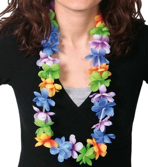 Hawaii-Kette aus Stoff - pastell