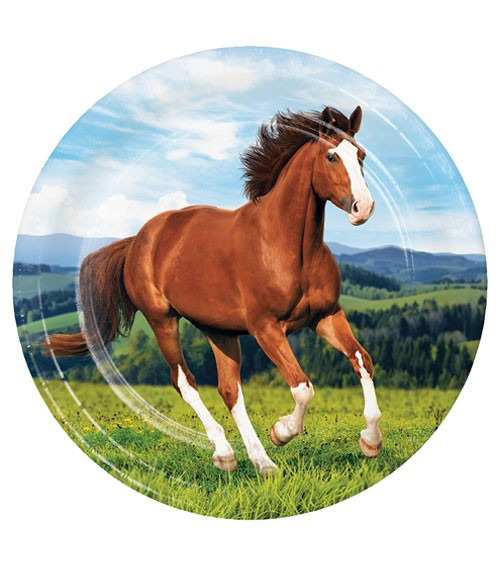 "Pappteller ""Pferde"" - 8 Stück"