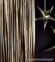Deko-Vorhang - gold - 0,9 x 2,5 m
