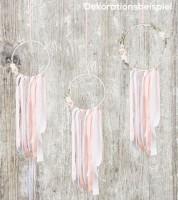 Floral Hoop-Set - rosa/weiß - 3-teilig