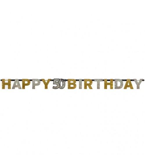 """Happy Birthday-Girlande """"Sparkling Celebration"""" - 50. Geburtstag"""