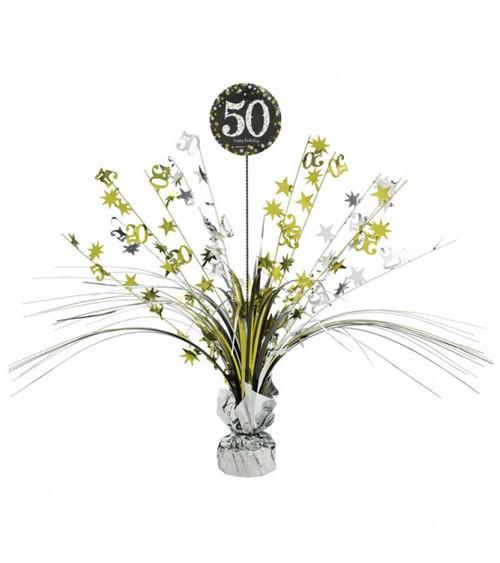 """Tischaufsteller """"Sparkling Celebration"""" - 50. Geburtstag"""