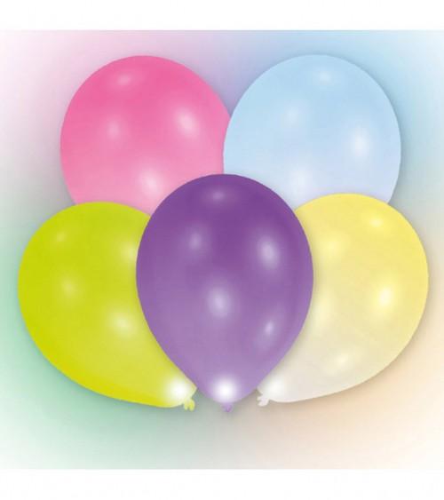 Leucht-Ballons - bunt - 5 Stück