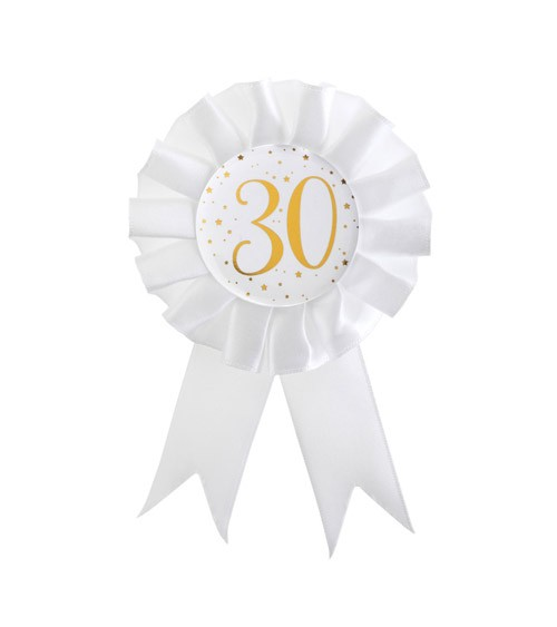 """Geburtstagsorden """"30"""" - weiß, gold"""