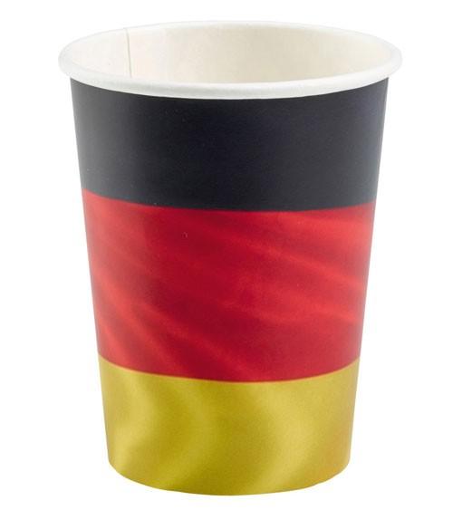 """Große Pappbecher """"Deutschlandfahne"""" - 6 Stück"""