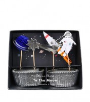 "Cupcake-Kit ""To the Moon"" - 48-teilig"