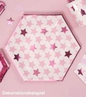 """Pappteller  """"Little Star Pink"""" - 8 Stück"""