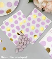"""Süßigkeitentüten """"Lavendel & Gold"""" - Punkte - 25 Stück"""