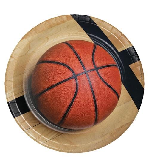 """Pappteller """"Basketball"""" - 8 Stück"""