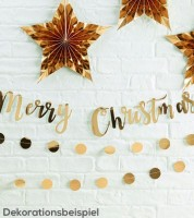 """Merry Christmas""-Girlande - gold - 1,5 m"
