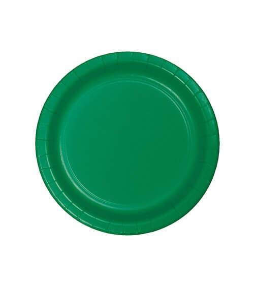 Kleine Pappteller - emerald green - 24 Stück