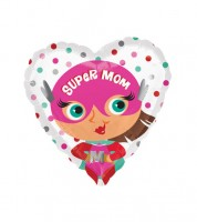 "Herz-Folienballon ""Super Mom"" - 43 cm"