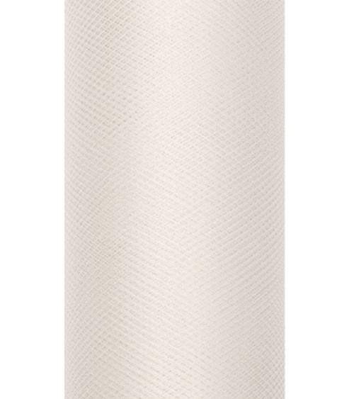 Tischband aus Tüll - creme - 15 cm x 9 m