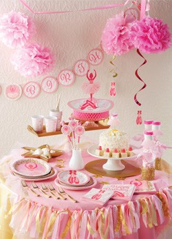 Madchenparty Kindergeburtstag Pink Dots Partystore
