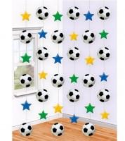 "Girlandenvorhang ""Fußball"" - 6 Stück"