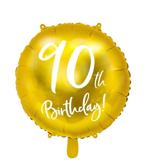 "Runder Folienballon ""90"" - gold - 45 cm"