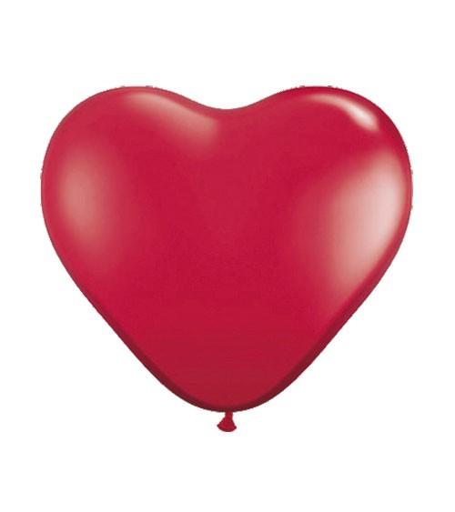 Herz-Luftballons - 30 cm - rot - 100 Stück