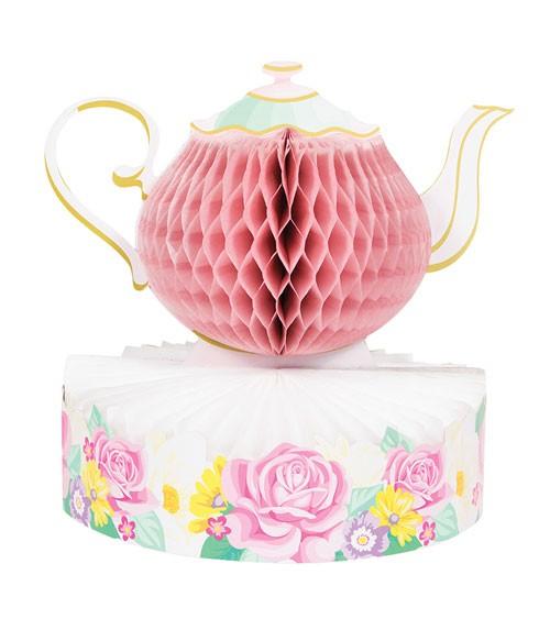 """Wabenaufsteller """"Floral Tea Party"""" - 25 x 24 cm"""