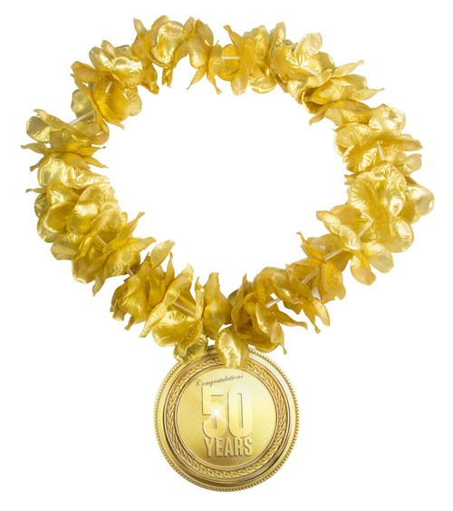 "Hawaii-Kette ""50"" - gold"